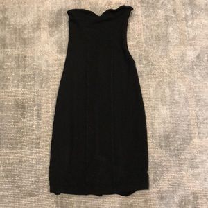 Club Monaco fitted strapless dress in wool